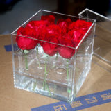 Boîte de présentation acrylique en plastique acrylique de fleur de Rose du jour de Valentine