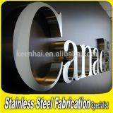 Carta de la muestra 3D de la carta del acero inoxidable de la publicidad al aire libre