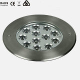 Luz subterráneo al aire libre de la cubierta del LED, lámpara del LED Inground