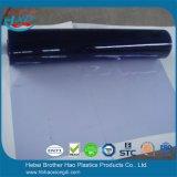 занавес листа PVC пластмассы 5mm толщиной мягкий плоский промышленный прозрачный голубой