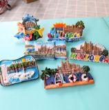 Het materiaal van de hars maakt 3D Magneten van de Koelkast van de Herinnering van het Land van Spanje van de Toerist