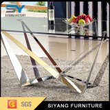 Edelstahl-Möbel-Quadrat-langer Glasspeisetisch