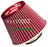 Pulitore rosso di filtro dell'aria dell'automobile del piano 3in universale per il tubo della presa di aria dell'automobile