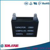 Metallisierter Ventilator-Kondensator des Polypropylen-Film Wechselstrommotor-Läufer-Cbb61 450V