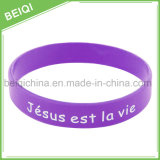 Bracelets faits sur commande bon marché de bracelet/silicones de silicium de logo