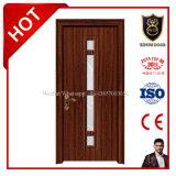 Portes en bois bon marché de PVC de modèle populaire avec Soncap, certificat de la CE