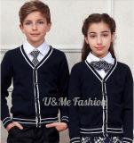 Jeux élégants unisexes d'uniforme scolaire de gosses de cardigan noir d'école
