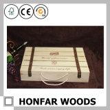 6개의 병 자연적인 나무로 되는 포도주 상자 포장 상자