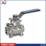 Robinet à tournant sphérique de l'acier inoxydable DIN 3PC 1.4408 Pn63 Dn20