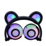 Nuevos auriculares de los oídos del oso de las luces del estilo LED