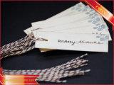 ペーパーこつの札によって印刷される値段の衣類のロゴの札