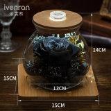 Flores frescas de la botella luminosa del deseo de Ivenran para el regalo creativo de la decoración del día de fiesta