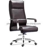 Hoher rückseitiger Schwenker-Leder-Büro-Stuhl (9322)
