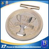カスタマイズされたロゴおよび形の旧式な銅の終わりの円形浮彫り
