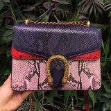 Nuevo bolso de las mujeres del bolso de hombro del cuero de la serpiente de la manera con el precio al por mayor de cadena Emg5098