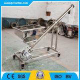 Transporte de parafuso de vibração Inclined do pó do aço inoxidável com funil