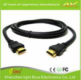 Sustentação barata preta 4k do cabo 1.5m de HDMI