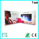 7inch LCD Bildschirm-bekanntmachende Broschüre-videogruß-Karten