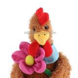 قطيفة حيوان يحشى دجاجة لعبة مع زهرة