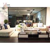 Sofá moderno da sala de visitas azul e off-White da tela da cor (GC812)