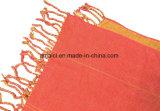 倍は着色する女性(ABF22005200)のための固体染められたスカーフ双方カラーアクリルのふさを
