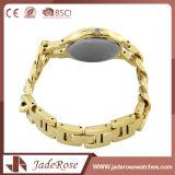 Vigilanza impermeabile del quarzo di modo dell'oro del catenaccio di piegatura