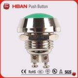 Diámetro de 12 mm de acero inoxidable mini interruptor de timbre de metal momentáneo