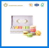 Casella impaccante su ordinazione di lusso di Macaron del documento di imballaggio del maccherone del regalo (con il nodo del nastro)