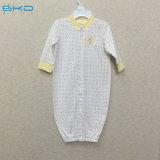 Pimaの綿の赤ん坊の衣服の長い袖の赤ん坊Sleepsuit