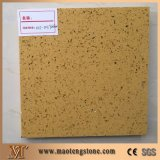 Sparkle Yellow Stellar Glass Quartz Stone Tiles and Slabs Countertops