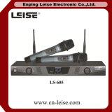 Ls-605 de dubbele UHF Draadloze Microfoon van Kanalen