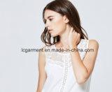Het modieuze Sleeveless Vest van de Vrouwen van het Kant van Bovenkanten Witte Zoete Sexy Toevallige
