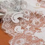 白いビーズの結婚式のレースファブリック、ウェディングドレスのレースのニューヨークの卸し売りトリムのレース