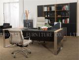 현대 가구 나무로 되는 가죽 사무실 책상 (V30A)