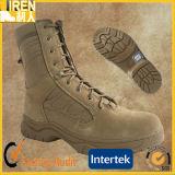 本物のスエード牛革安全靴の軍の戦術的な砂漠ブート