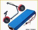 De Batterij van het Lithium van het hoge Tarief 60V 20ah voor Elektrische Autoped/Auto Harley