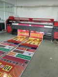 máquina de impressão solvente principal ao ar livre interna da propaganda da impressora de /Vinyl /Sticker /Poster da bandeira do cabo flexível de 3.2m 4PCS 512I Konica