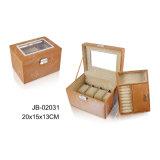 Случай/коробка ювелирных изделий искусствоа хранения упаковки роскошного подарка PU Elegent рамки металла многофункционального кожаный прочные
