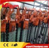 Bloc à chaînes utilisé par construction d'élévateur manuel de 5 tonnes pour se soulever et tirer