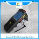 Colector de datos con el explorador del código de barras, RFID, huella digital