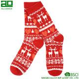 Оптовые Breathable красные носки рождества