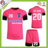 縞乾燥した適合のサッカーの中国のチームのための卸し売りサッカーのユニフォームからの均一安いサッカーのユニフォーム