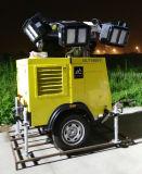 Strumentazione mobile idraulica della torretta di illuminazione