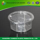 Одноразовая маленькая прозрачная пластиковая круглая коробка с крышкой