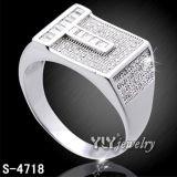 Commercio all'ingrosso d'argento della fabbrica dell'anello dei monili di alta qualità