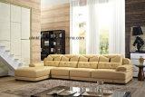 Sofá moderno do couro da sala de visitas (UL-NSC280)