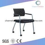 Présidence noire de formation de maille de meubles de bureau de cuir artificiel d'accoudoir