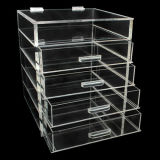 Organisateur acrylique de renivellement de 5 rangées avec le diviseur dans chaque tiroir
