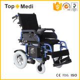Sillón de ruedas eléctrico plegable de descanso de la potencia de Topmedi
