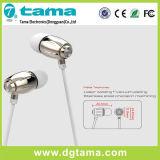 전화를 위한 3.5mm 연결관 마이크 입체 음향 저음을%s 가진 금속 이어폰 형식